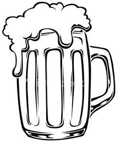 beer mug drawings Gravure Metal, Beer Images, Mug Drawing, Beer Quotes, Beer Art, Chalkboard Art, Cricut Vinyl, Digi Stamps, Chalk Art