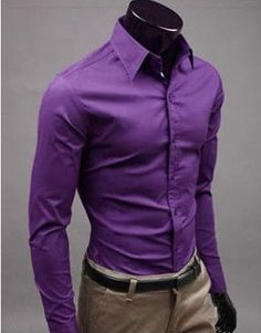 Willstyle Stylish Long Sleeve Shirt Purple
