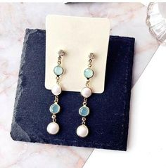 20d192328bc447 New Design Elegant Half Round Pearl Long Drop Dangle Earrings for Girls  Women Boho Trendy Lady Jewelry Brincos Wholesale