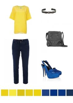 Yellow & Blue. Casual. Pop of colour