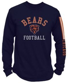 4ae17222e Authentic Nfl Apparel Men s Chicago Bears Spread Formation Long Sleeve T- Shirt - Blue XL