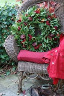 Crimson Laurel wreath by Circle Home and Design
