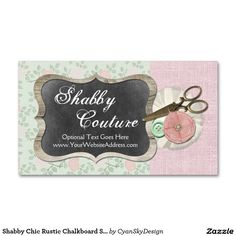 Equine dentist vintage sewed leather business card vintage sewing shabby chic rustic chalkboard sewing boutique double sided standard business cards on zazzle handmade craft branding marketing crafting reheart Image collections