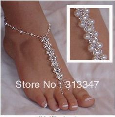 Sandel Anklet Patterns | /lot Hand craft anklets pure Handmade Beaded Foot Jewelry Nude Sandal ...