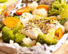 Papillote de blancs de poulet et légumes