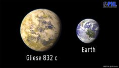 Gliese_832c_and_earth Very cool! A new planet discovered in a solar system not far away - 16 light years. Now all we have to do is figure out is how to go faster than the speed of light. Future Earth Colony anyone?