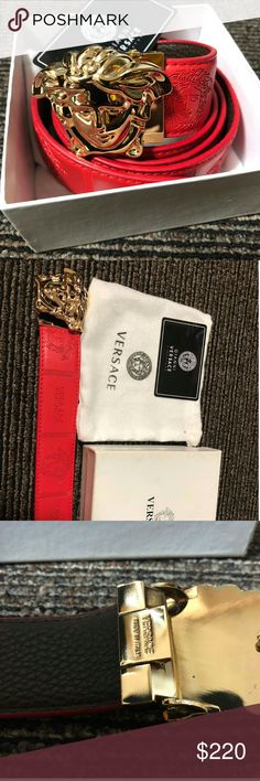 Versace red belt New in box comes with everything u see in the. Pic dust bag card an original box Versace Other