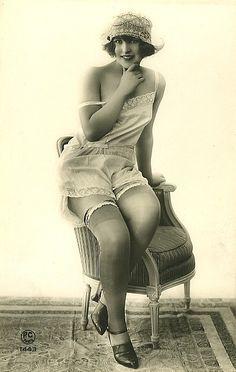 Edwardian Risque Lady.