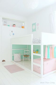 Kids room paint kura bed 55 Super Ideas - Home Decor Kura Ikea, Ikea Bunk Bed Hack, Kids Room Paint, Girl Bedroom Designs, Kids Room Design, Wall Design, Big Girl Rooms, Trendy Bedroom, Dream Rooms