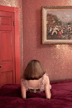 "Glitter wall!- thinking may make a ""glitter closet. Saw the paint today at Home Depot."