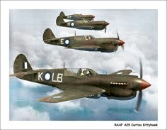 Royal Australian Air Force Curtiss Kittyhawks