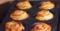 Aardappelen zijn niet alleen lekker, je kan ze ook nog eens op zoveel verschillende manieren klaarmaken! Wat dacht je van deze torentjes met Parmezaanse kaas? Griddle Pan, Food Inspiration, Food And Drink, Breakfast, Recipes, Diana, Cook, Morning Coffee, Grill Pan