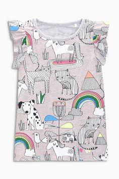 de45a800945 Buy Grey Unicorn Frill Vest (3mths-6yrs) from the Next UK online shop