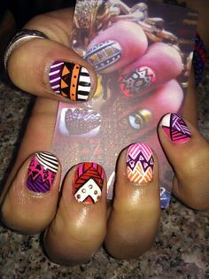 Amazing micro nail art.  Ria Lopez in Greenpoint BK does these fabulous manicures for only $20!