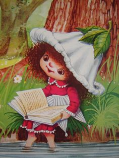 victoria leyendo., Sarah Kay, Louise Little, Plum Garden, Mary May, Victoria Plum, Plum Art, Magical Pictures, Cicely Mary Barker, Imagenes De Amor