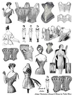 """Victorian corsets, some styles never go """"out"""" of style ;)"""