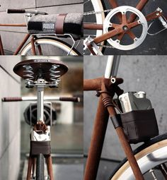 """296 """"FeO2"""" - 135 """"Machete"""" winner of Partisan Vodka bike competition. The rust frame is both attractive and a bit offputting."""