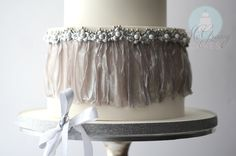 McGreevy Cakes- Rice Paper Dress & Wafer Flowers Cake