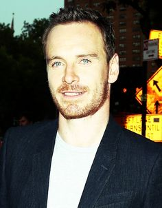 Michael Fassbender on route to the NYC premiere of Frank, August 5, 2014.