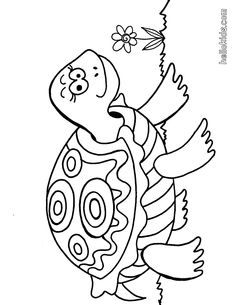 turtle coloring page Turtle Coloring Pages, Colouring Pics, Animal Coloring Pages, Coloring Book Pages, Coloring Sheets, Coloring Pages For Kids, Frog Crafts, Cute Turtles, Cat Drawing