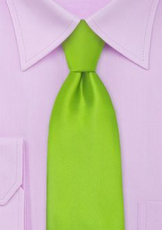 Krawatte grün einfarbig matt