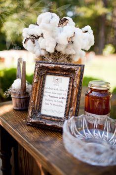 signature cocktail and cotton decor