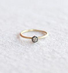 Myth & Symbol — Satomi Kawakita Hexagon Champagne Diamond Ring