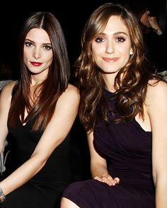 Ashley Greene & Emmy Rossum  in the Front Row of Donna Karran's show...