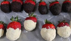 pat cheesecake and brownie around strawberry, then refrigerate- I would also dip them in chocolate after! Yum.