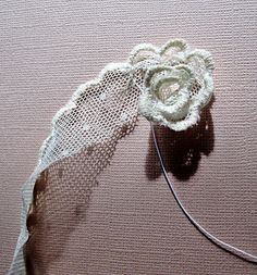 Hello Everyone. Do you want to know how to make this little lace flower? Well if you stay on this page I will give you  step by step i...