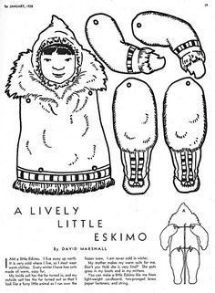Eskimo or Inuit paper articulated paper doll | Flickr - Photo Sharing!