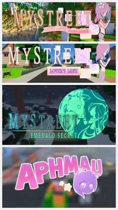 All the seasons and intros of mystreet ps the last one is aphmaus main intro