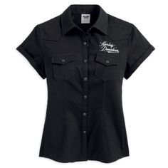 harley davidson clothing for women | ... Winged Woven Shirt - Harley Davidson Womens, 99102-13VW/000L