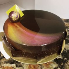 Eclipse - entremet pastry cosmic glaze chocolate patisserie by victorialopez Gourmet Desserts, Delicious Desserts, Cupcakes, Artist Cake, Decoration Patisserie, Mirror Glaze Cake, Pastry Art, Beautiful Desserts, Crazy Cakes