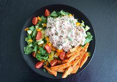 lunsjsalat med krema tunfisk