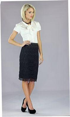 Ivory Shimmer Skirt for Church, Church Dresses, dresses for church ...