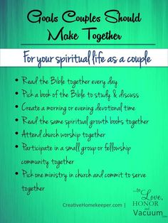 Goals to Make as a Couple to Strengthen Your Marriage: For Your Spiritual Life