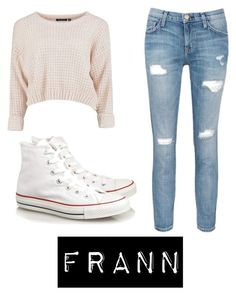"""""""frann"""" by ka-vip on Polyvore featuring Current/Elliott and Converse"""