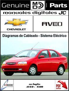 manual diagramas de cableado y sistema el ctrico para el chevrolet rh pinterest com 2005 Aveo Yellow 2005 Chevy Aveo Engine Diagram