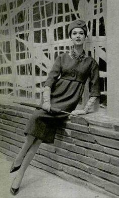 1958 Christian Dior/YSL empire-waist dress