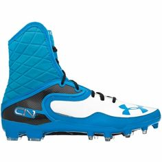 Under Armour Cam Highlight MC Mens Football Cleats - Blue Heat/Metallic Silver - $159.95 Cam Newton's football cleats