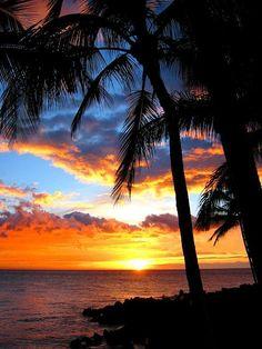 Sunset in Hawaii.