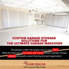 Merveilleux Make The Best Use Of Your Garage Space With Closet Doctoru0027s Garage Storage  Cabinets Along With