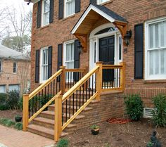 Best Diy Wooden Porch Handrail Ideas Wood Railing And Concreate Steps Home Improvement Ideas 640 x 480