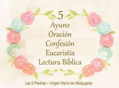 #VirgenMaria #Maria #MensajesdelaVirgen #VirgenMedjugorje #mensajesMedjugorje Pan para el Espíritu: Las cinco piedras de la Virgen María