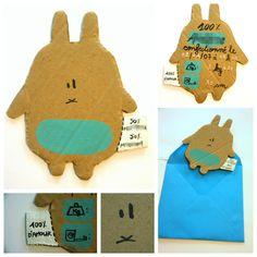 """Brug til noget andet...en påskehilsen eller invitation med """"the awkward bunny""""!"""