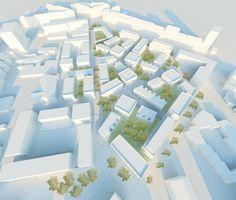 Wohnquartier Witzelstrasse, Düsseldorf, 1. Bild Landscape Architecture, Landscape Design, Urbane Analyse, Hospital Design, Master Plan, Urban Planning, Urban Design, Planer, Infographic