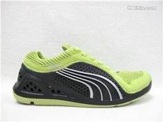 Green Puma Running Shoes