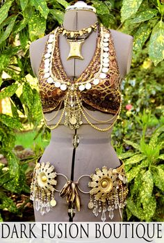 Professional Bellydance HALTER, C Cup, Gold, Brown, Copper, Plum, Kuchi, Fusion, Vintage, Noir, Nouveau, Tribal on Etsy, $184.48 CAD