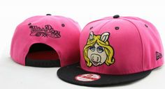 Miss Piggy Snapback Hat 001 Denim Baseball Cap, Fantasy Baseball, Baseball League, Miss Piggy, New Era Hats, Snap Backs, Streetwear Brands, Cartoon Styles, Snapback Hats